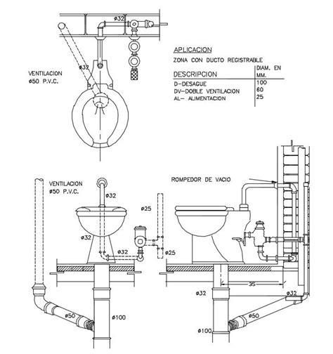 toilet layout plan dwg toilet installation details cad design free cad blocks
