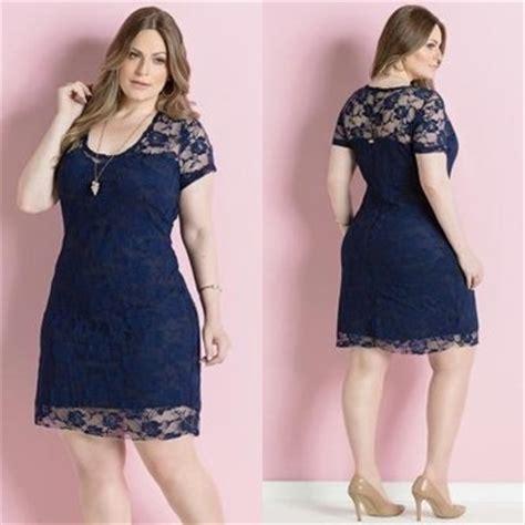 vestidos casuales de da para gorditas colecci 243 n de vestido azul de encaje en tendencia de verano