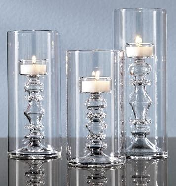 Glass Tealight Candle Holders In The Shape Of Candlesticks by Glass Tealight Candle Holders In The Shape Of