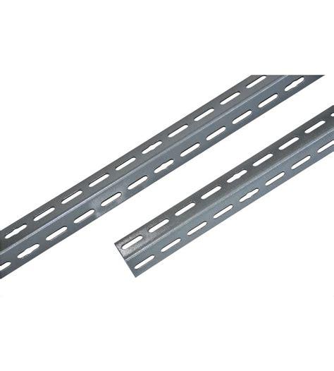 angolari per scaffali angolare 35x35 mm alto 240 cm di colore grigio per scaffali