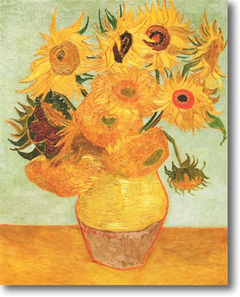 still vase with twelve sunflowers vincent gogh