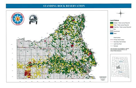 standing rock reservation map a hunters
