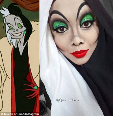 queen of luna uses her hijab as part of her disney make up