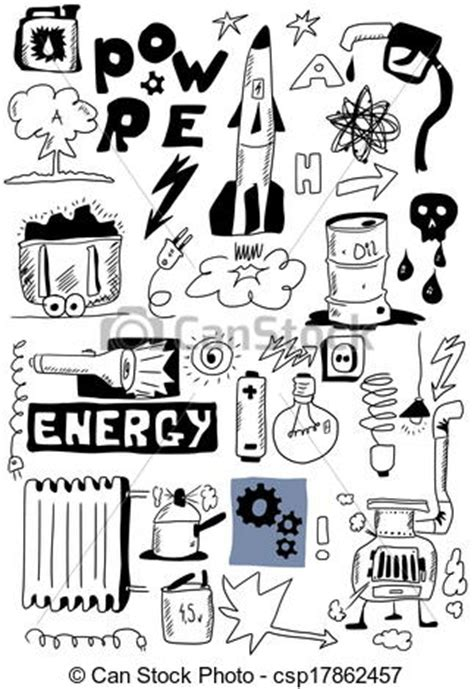 doodle how to make electricity stock illustrations of draw energy doodle set