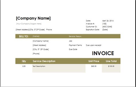 jewelry invoice template ms excel jewelry invoice template excel invoice templates