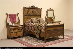 Set includes a full size bed dresser with mirror and commode or small