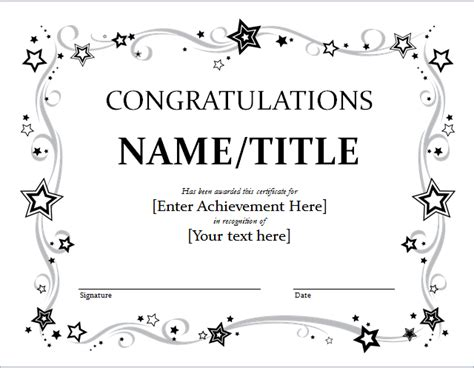 congratulations certificate congratulation certificate template for word document hub
