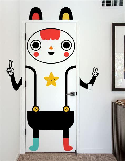 Stiker Kulkas Hello 2 Pintu doors are boring make yours muxxi artpeople net