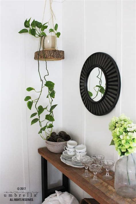 Diy Rope Hanging Planter - easy diy hanging planter using a wood slice and rope the