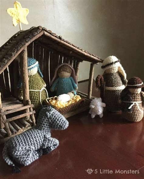 patterns for christmas nativity 5 little monsters crocheted nativity set nativity sets