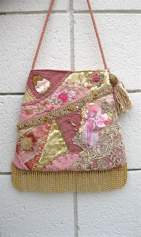 Quilt Purses by Handbag Quilt Pink Purse Embroidery Lace