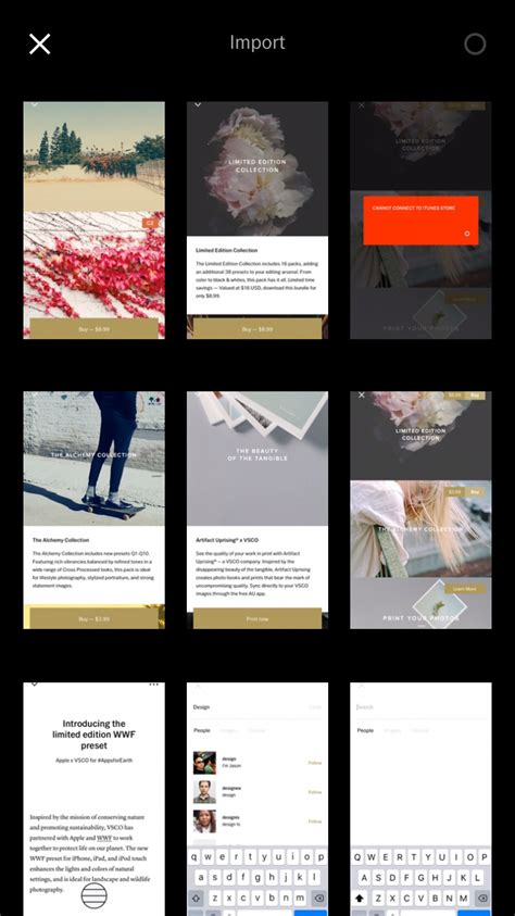 grid layout vsco vsco design patterns pttrns