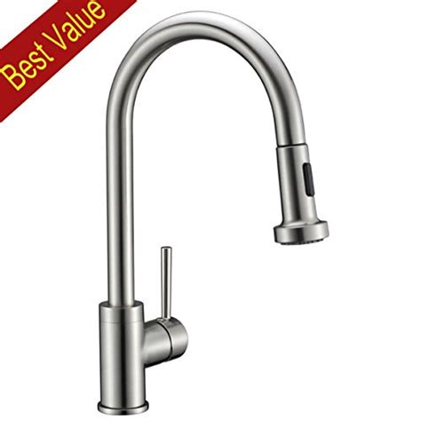 solid brass pull down kitchen faucet nickel brushed usa free shipping avola solid brass sink kitchen faucet