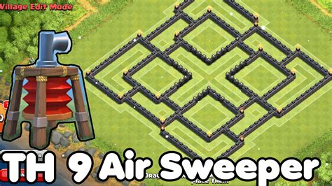 air sweeper town hall 9 farming base clash of clans town hall 9 th9 best farming base 2015