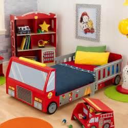 Fire Truck Bedroom Kidkraft Fire Truck Toddler Bed 76021 Toddler Beds At