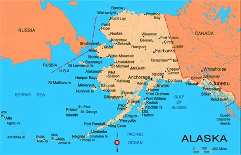 us map alaska state alaska map with cities exactly where that