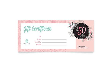 publisher templates for gift certificates massage gift certificate template word publisher