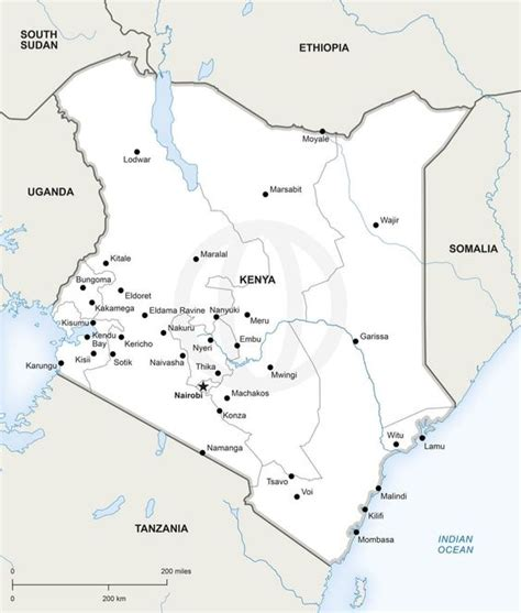 printable map kenya products kenya and maps on pinterest