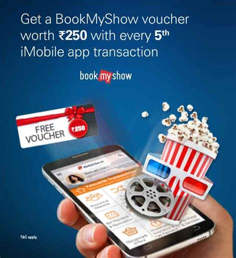 bookmyshow voucher transaction bookmyshow offer icici bank