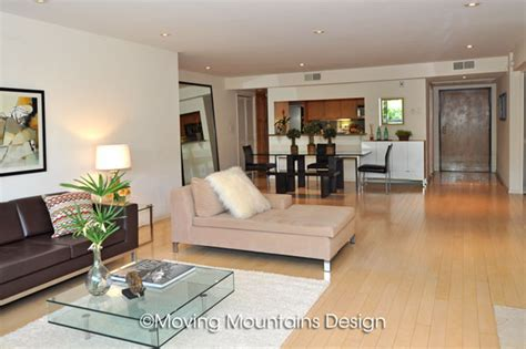 open floor plan condo contemporary los angeles condo home staging open floor plan moving mountains design los