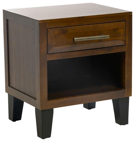 small single drawer nightstand glendora mahogany solid wood nightstand contemporary