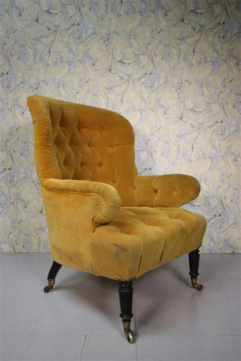 old armchair large english antique upholstered armchair antiques atlas