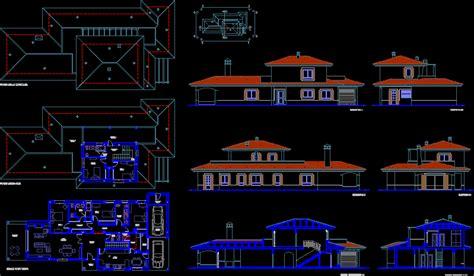 villa layout plans dwg plan  autocad designs cad