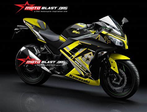 Topeng Kawasaki Ninja250 Fi V3 modif striping kawasaki 250r fi black yellow star2 motoblast