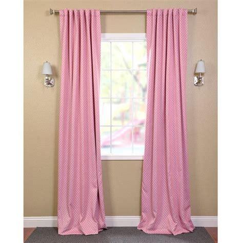 little girl blackout curtains eff pink polka dot blackout back tab pole pocket curtain