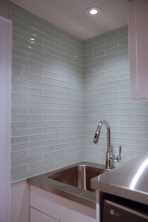 glass tile for backsplash in kitchen glass tile laundry room backsplash rambling renovators