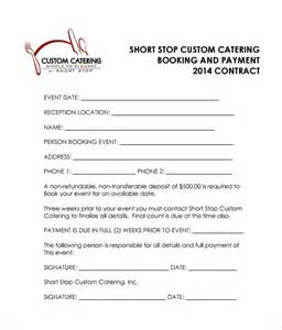 catering contract template 10 download free documents