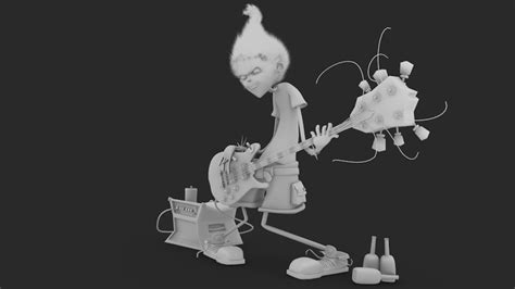 Thank God I M A Guitar Player 3d guitar player wip by jordihp on deviantart