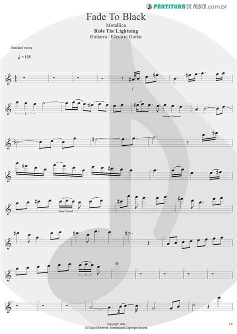 Partitura de musica - Guitarra Elétrica | Fade To Black