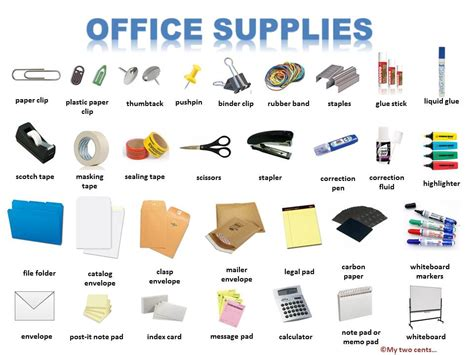 STATIONERY ITEMS LIST FOR OFFICE   stationery