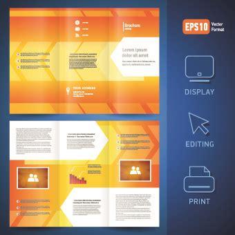 brochure design templates cdr format free creative brochure design sle free vector