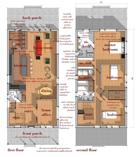 Modern House Plans For Narrow Lots Numberedtype Narrow Lot Modern Infill House Plans