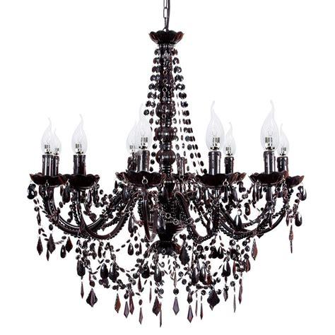 chandelier 12 light provincial black