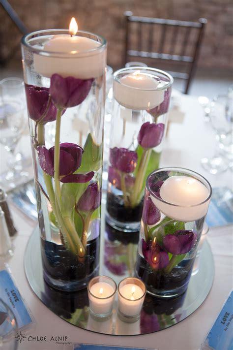 decorative wedding floating candle ideas purple wedding