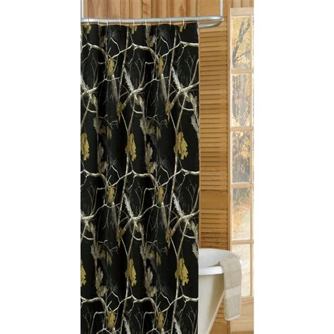 Camouflage Shower Curtains Realtree Camo Shower Curtain In Black 07174810000rt