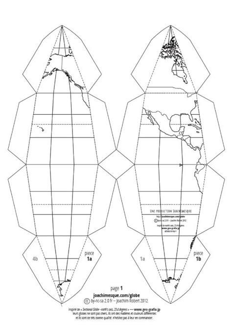 Papercraft Sphere - le paper globe de joachim robert x 3 paperblog