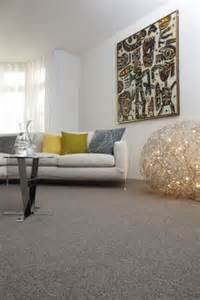 grey wool carpet creates a base for bright