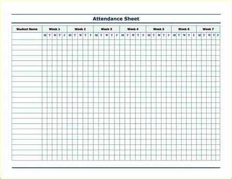 attendance form templates attendance form template for teachers besttemplates123