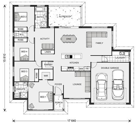 property floor plans wide bay 230 home designs in new south wales g j