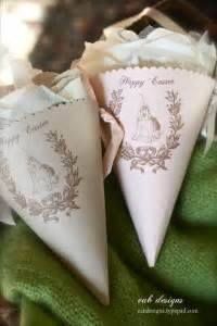 Free Easter Paper Cones With Gift Tag Printables 24 7 Moms Flower Cone Template