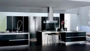 the beauty and elegant look of black and white kitchen