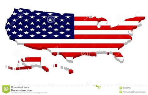 usa map with hawaii and alaska complete usa map with flag overlay stock illustration