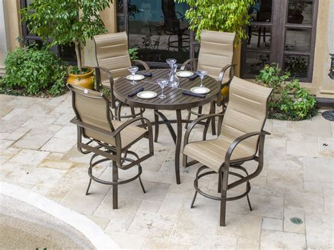 Bar Style Patio Furniture Patio Bar Set With Swivel Chairs Patio Building