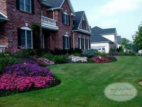 front yard planting design traditional landscape new