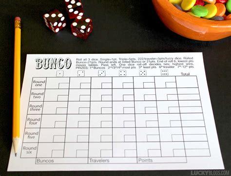 best photos of bunco score sheet template free printable