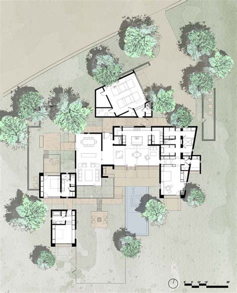 arizona home plans lake flato floor plan renderings models pinterest